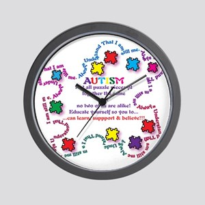 Puzzle Pieces No Two Alike Wall Clock
