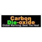 Sticker about the effects of C02 on Global Warming