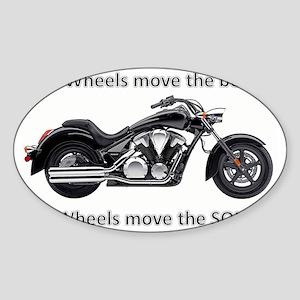 Biker Quote Sticker (Oval)
