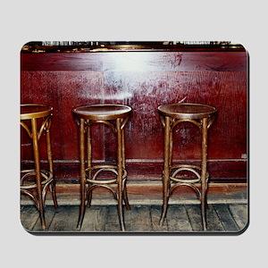 Bar Stools in Pub Mousepad