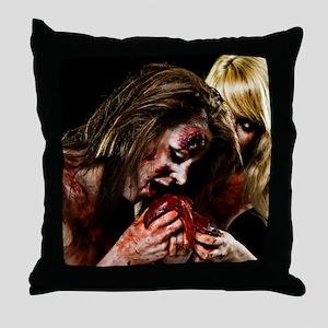 Crazy Zombie Girls Throw Pillow