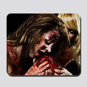 Crazy Zombie Girls Mousepad