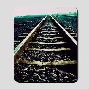 Close-up of railway tracks Mousepad