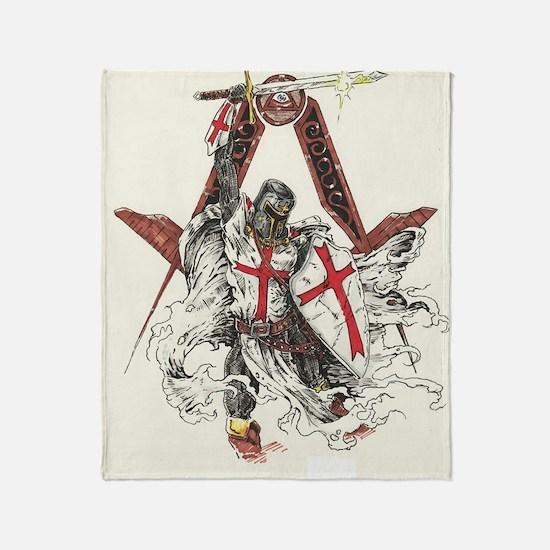 Knights Templar Throw Blanket