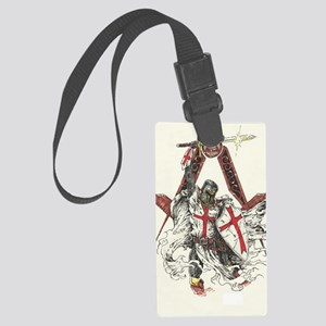 Knights Templar Large Luggage Tag