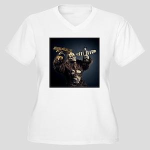 crazy monster Women's Plus Size V-Neck T-Shirt
