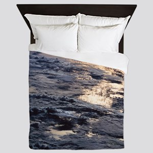Earth viewed from a satellite Queen Duvet