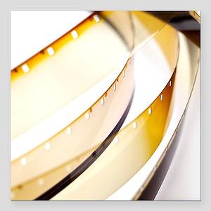 "Film reels Square Car Magnet 3"" x 3"""