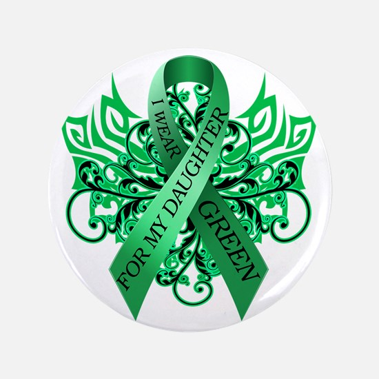 """I Wear Green for my Daughter 3.5"""" Button"""