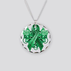 I Wear Green for my Daughter Necklace Circle Charm