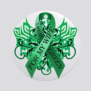 I Wear Green for my Wife Round Ornament