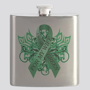 I Wear Green for my Wife Flask