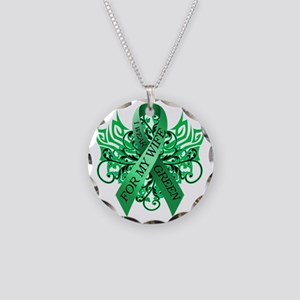 I Wear Green for my Wife Necklace Circle Charm