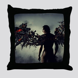 smouldering wings Throw Pillow