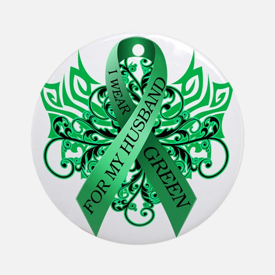I Wear Green for my Husband Round Ornament