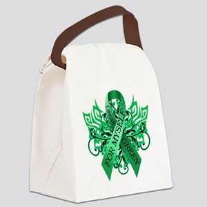 I Wear Green for Myself Canvas Lunch Bag