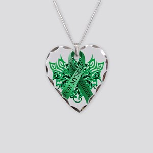 I Wear Green for Myself Necklace Heart Charm