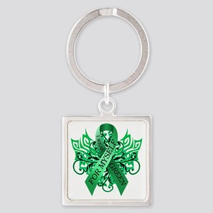 I Wear Green for Myself Square Keychain