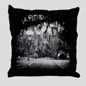 cemetery in savannah Throw Pillow