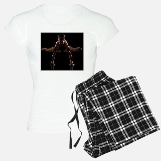 Studio shot of young woman  Pajamas