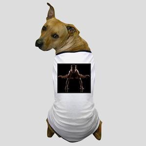 Studio shot of young woman practicing  Dog T-Shirt
