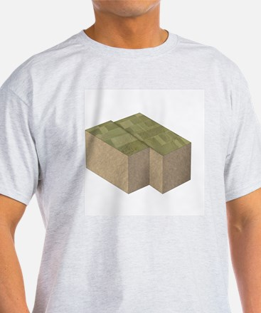 Illustration of two cross section bl T-Shirt