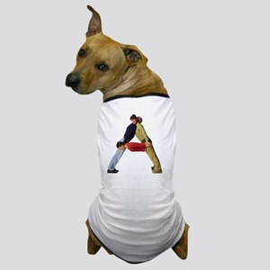 three young adults in colorful clothes Dog T-Shirt