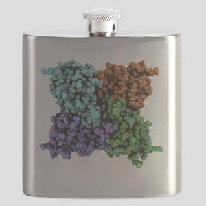 RNA-editing enzyme, molecular model Flask