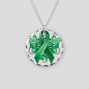 I Wear Green for my Granddau Necklace Circle Charm