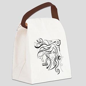 hair style Canvas Lunch Bag