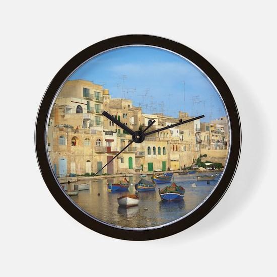 Saint Julian's Bay in Malta Wall Clock