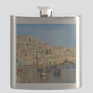 Saint Julian's Bay in Malta Flask
