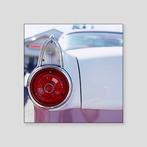 "Vintage American car, close Square Sticker 3"" x 3"""
