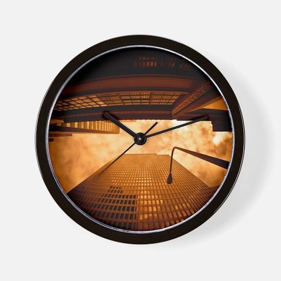 Skycraper Architecture in San Francisco Wall Clock