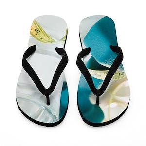 6b229712372a52 Dumbbells Flip Flops - CafePress