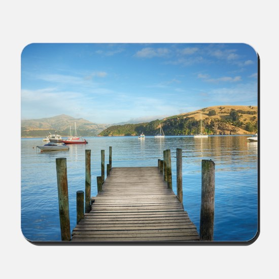 HDR Jetty, New Zealand, Akaroa Harbour Mousepad