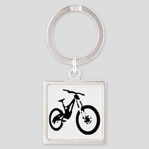 Mountain Bike Square Keychain
