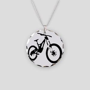 Mountain Bike Necklace Circle Charm