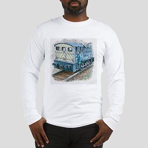 Illustration of train engineer Long Sleeve T-Shirt