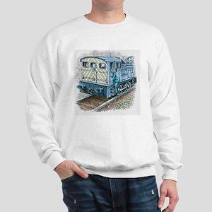 Illustration of train engineer moving u Sweatshirt