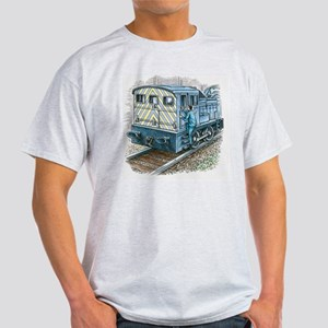 Illustration of train engineer movin Light T-Shirt