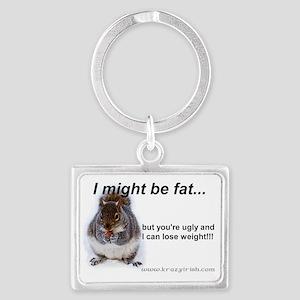 Fat Squirrel Landscape Keychain