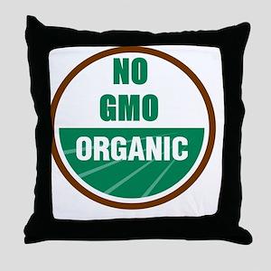 No Gmo Organic Throw Pillow