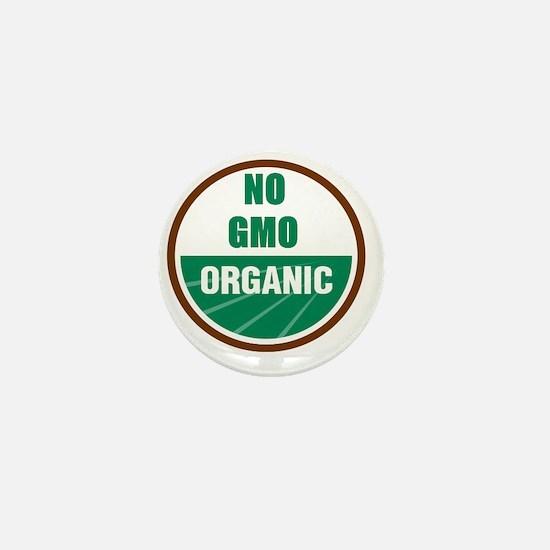 No Gmo Organic Mini Button