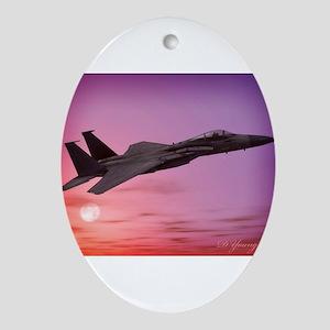F-15 Eagle Ornament (Oval)