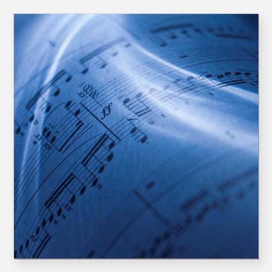 "Sheet music Square Car Magnet 3"" x 3"""
