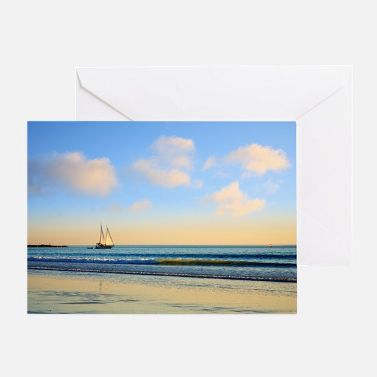 Sailing Boat Cable Beach Broome West Greeting Card