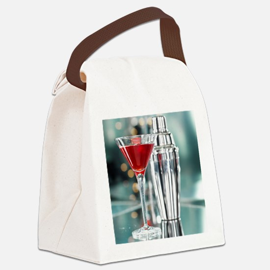 Red Martini Canvas Lunch Bag