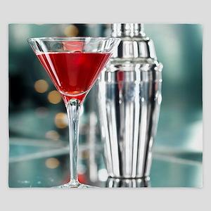 Red Martini King Duvet