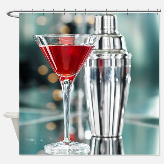 Red Martini Shower Curtain